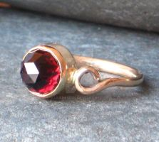 Garnet Princess Ring by vakadesign