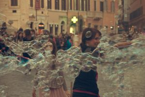 Playing With Soap Bubbles by skypho