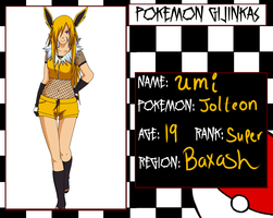 Pokemon Ginjinka Oc: umi (evolved) by myochi-chan