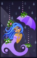 Raining Frogs by TiffanySketches