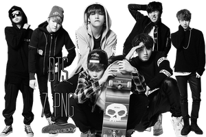 BTS PNG Pack {Cool Music} by kamjong-kai