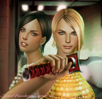 Crystal and Amber (Dead Rising 2) by SweeetRazzbery