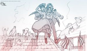 Howls Moving Castle by DarkKenjie