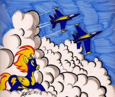 Spitfire and the US Navy Blue Angles by newyorkx3