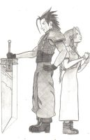 Zack and Aerith by redwolf18blue