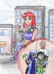 Starfire and the Titans by SilverDiamond