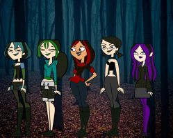 Total Drama Goth Girls by corbinace