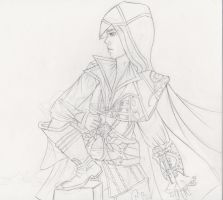 Ezio Sketch by aidasteel