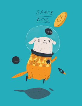 space dog. by louisroskosch