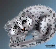 snow leopard by eerilyfair