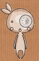 carboard bunny by ConejitoPerverso