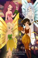 The Four Seasons Faeries by Mirimoore