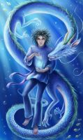 Spirited  away. Haku. by AksaArt