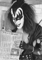 Gene Simmons 1975 by vinicius-costa