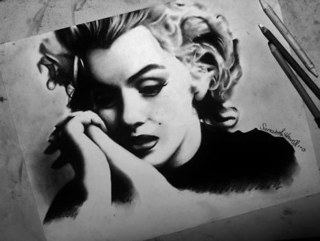 Marilyn Monroe Portrait by sjhowell11