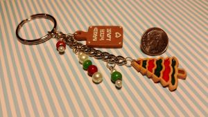 Christmas Cookie Key Chain SOLD by ninja2of8