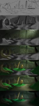 Forest of Z'rith steps by AbstractDawn