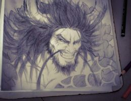 One Piece - Kaidou the Beast : Sketch by Grimchease