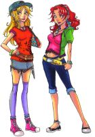 Prue and Sere- Street Clothes by DivingSiren