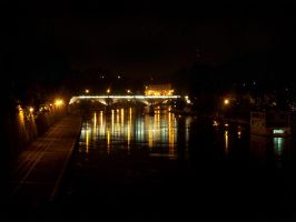 Tiber At Night I by Harry-Paraskeva