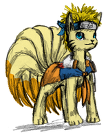 Naruto The Ninetales by Edo--sama