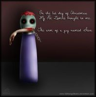 My Pet Zombie Christmas Day 1 by fallnangeltears