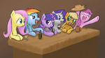Mane Six's night out by Bill-the-Pony