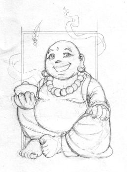 hotei-sketch by artistmonk