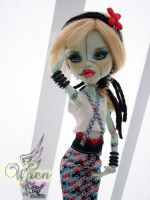 Monster High Frankie Stein Repaint by RogueLively