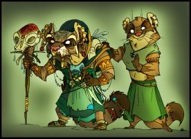 Redwall. Treasure Island. Shaman and Ioki. by FortunataFox