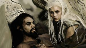 Daenerys Targaryen and Khal Drogo. by Apormenos