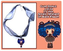 Gothic Lolita Acrylic Necklace by Minty-Kitty-Art