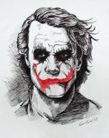 Joker - Heath Ledger by kabirtalib
