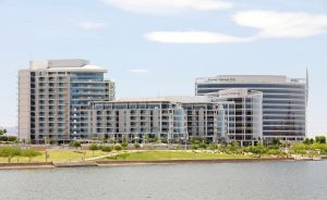 Tempe Lake Office Buildings by xplosivemind