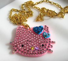 HK Rhinestone necklace by pinkminx