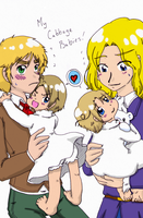 Hetalia - My Cabbage Babies by Cloud-Kitsune
