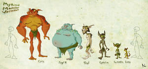 Mythical Monster Variations by Natal-ee-a