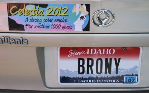 BRONY licence plate by Framwinkle