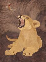 Lion Still King by amazoncanvas