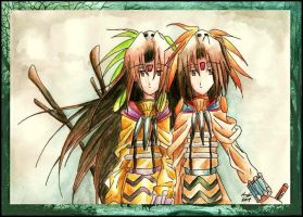 Shaman Twins by eikomakimachi