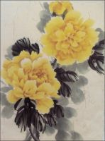 The Yellow Peonies by Dragon-Koi