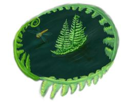 illustration for my book no.4 - fern boat by JanR90
