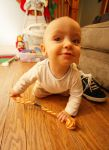 Ethan with Peter's Toy by froggynaan