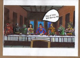 Justice League and Last Supper by Kittie86