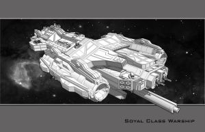 Soyal Class Warship by partical0
