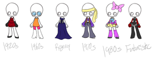 Era Outfit Adopts :1/6 OPEN: by TargetGirl