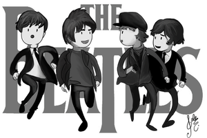 The Beatles by Valeelalala