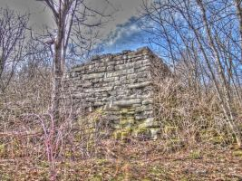 Old Barn Foundation Ramp, HDR. by Lectrichead