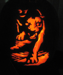 Panther Pumpkin by ShonnaKay