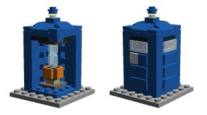 Mini Lego TARDIS by SilentCollector